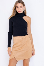 Le Lis One Sleeve Turtleneck Top - Front full body