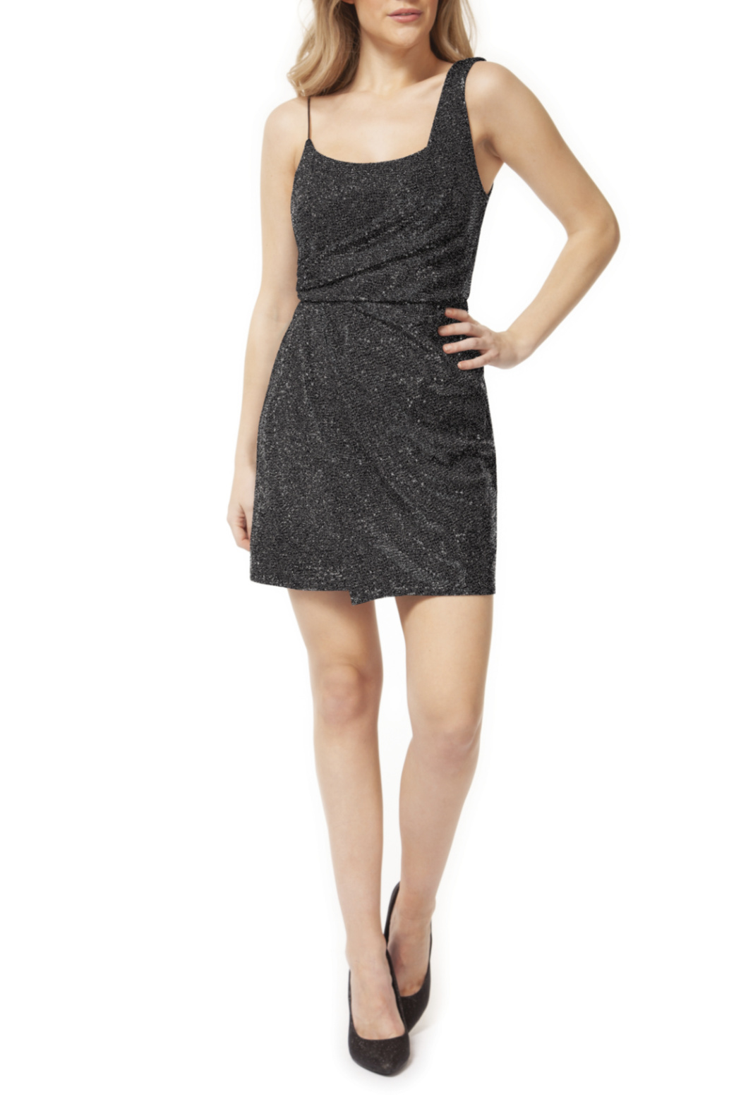 Dex One Strap Shimmer Mini Dress - Main Image