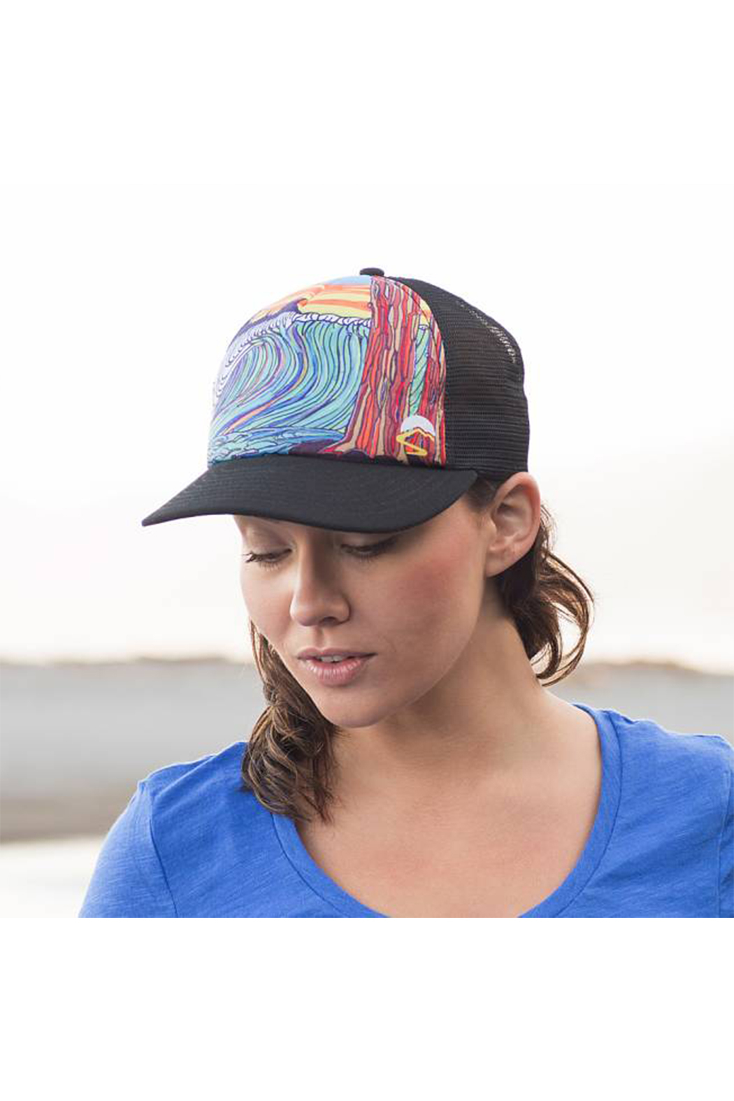 Sunday Afternoons One Trucker Hat - Front Full Image