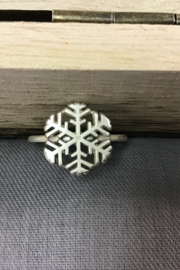 """One World Two Hands """""""" Snowflake Ring - Product Mini Image"""