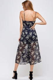 one & only Floral Culotte Jumper - Back cropped