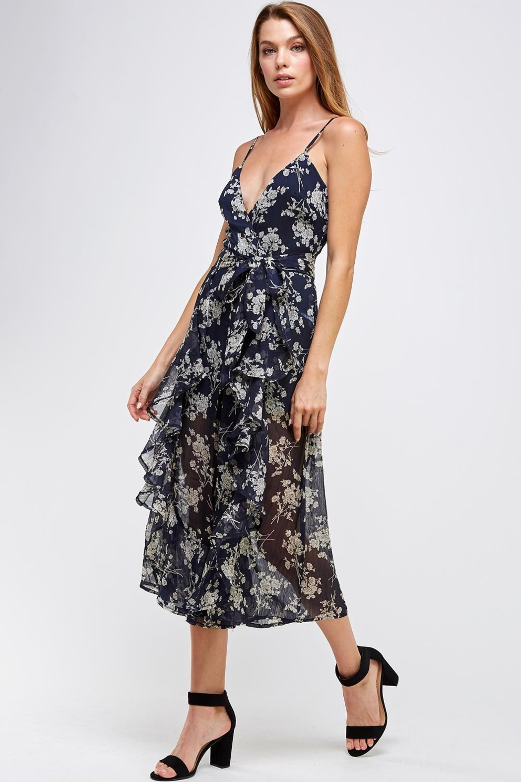 one & only Floral Culotte Jumper - Side Cropped Image