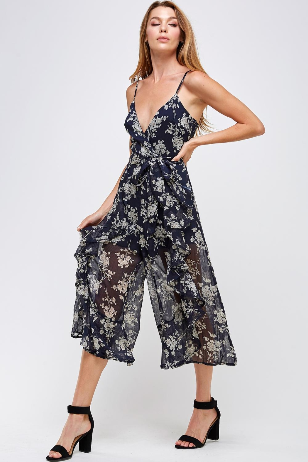 one & only Floral Culotte Jumper - Front Full Image