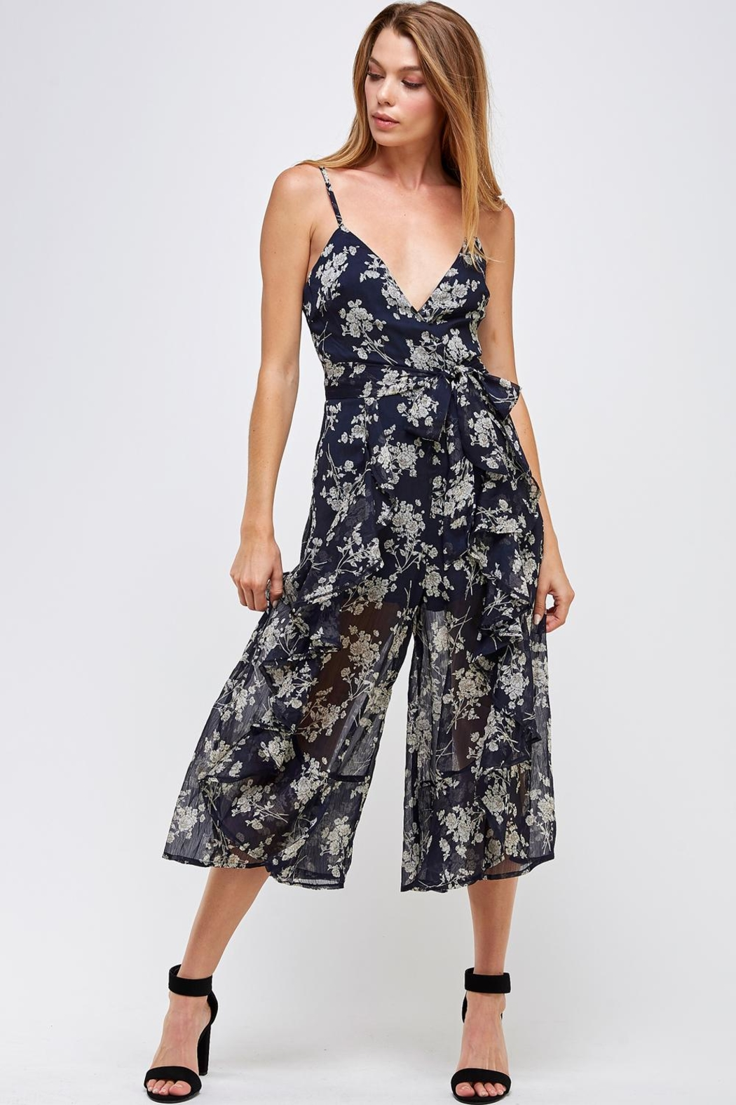 one & only Floral Culotte Jumper - Main Image