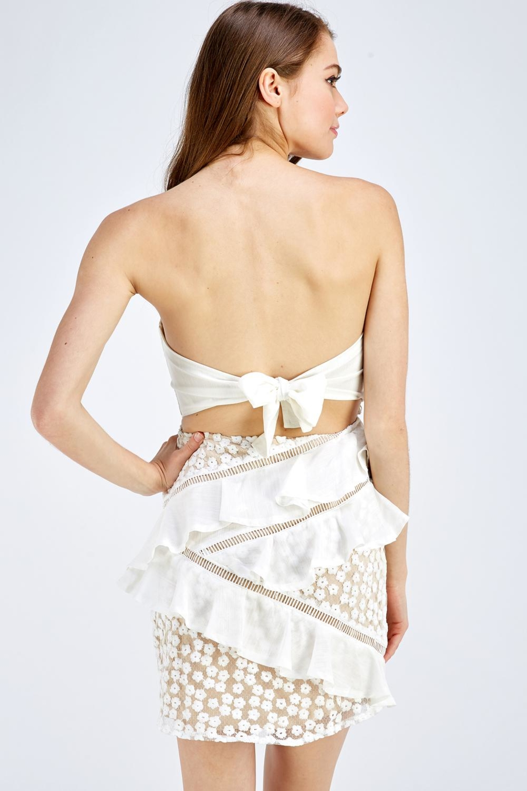 one & only Lace Tube Dress - Back Cropped Image