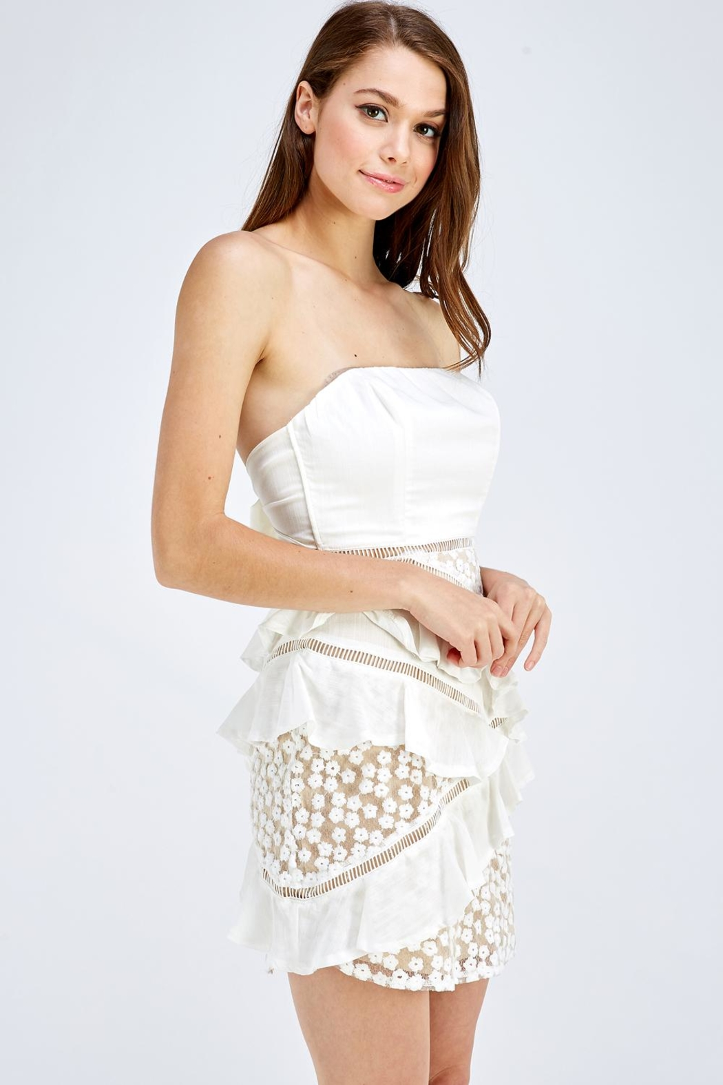 one & only Lace Tube Dress - Side Cropped Image