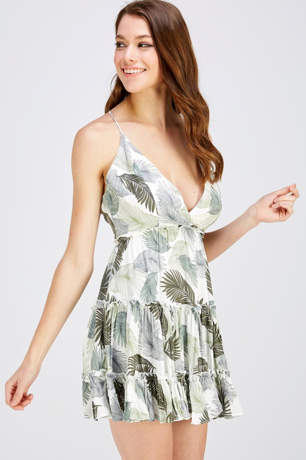 one & only Leaf Print Dress - Front Full Image