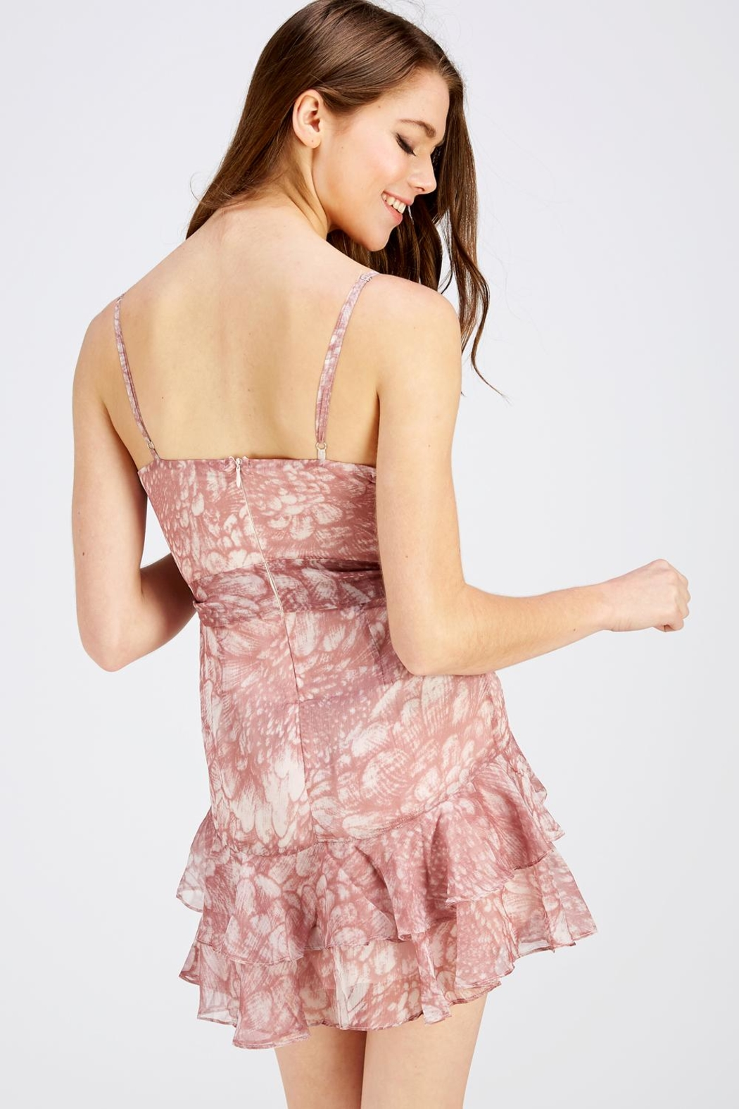 one & only Nude Surplice Dress - Back Cropped Image