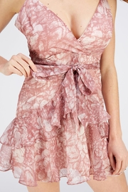 one & only Nude Surplice Dress - Front full body