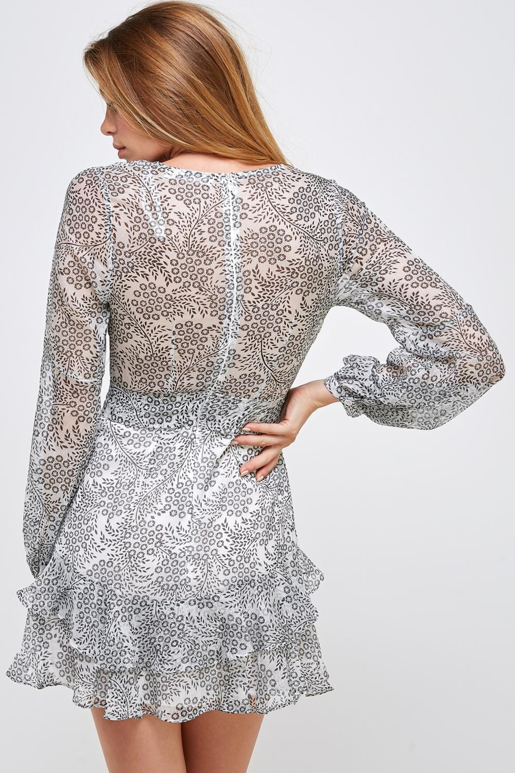 one & only Peasant Sleeve Dress - Back Cropped Image