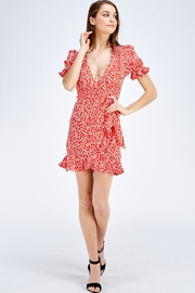one & only Red Floral Dress - Front full body