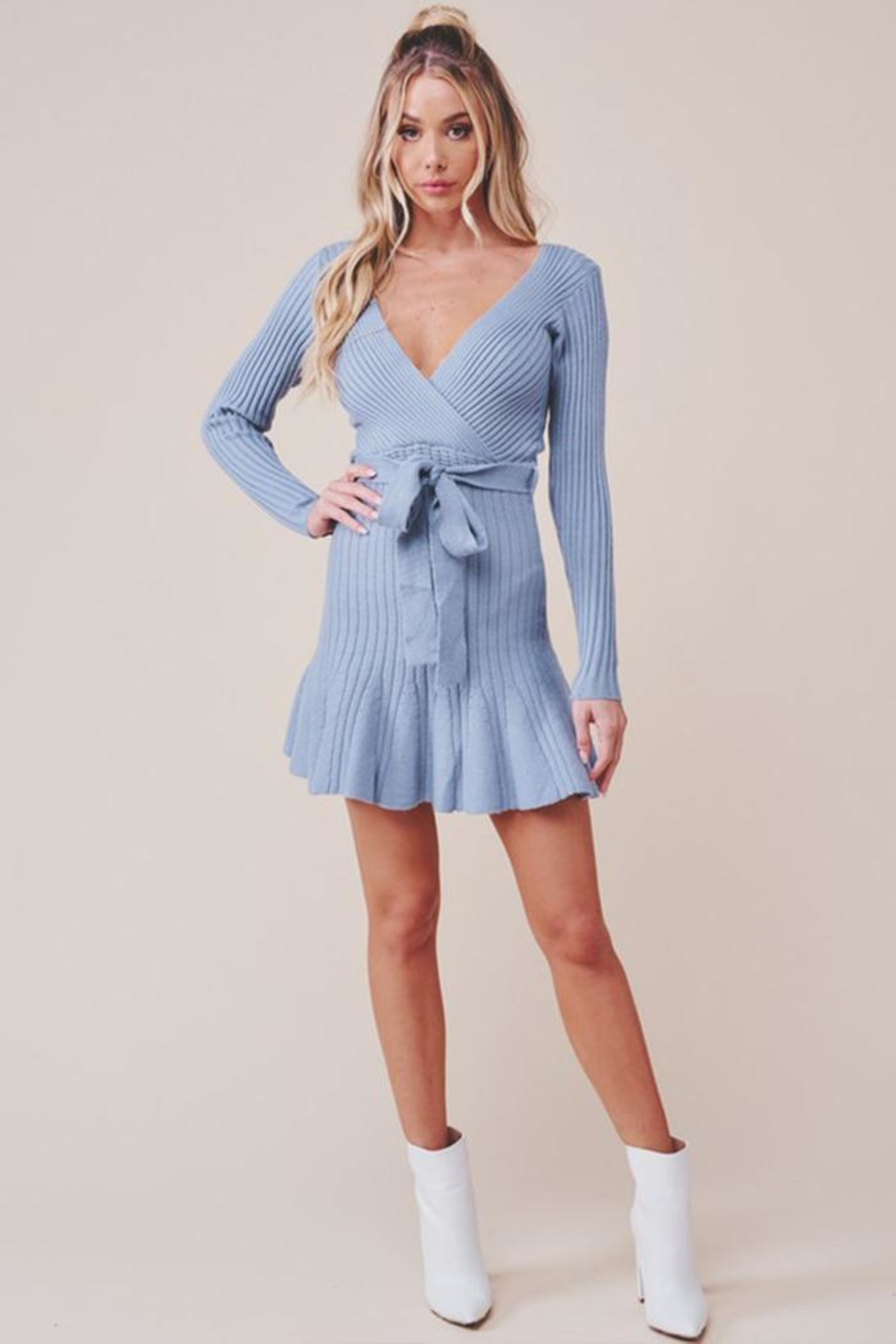 one & only Surplice Mini Dress - Back Cropped Image