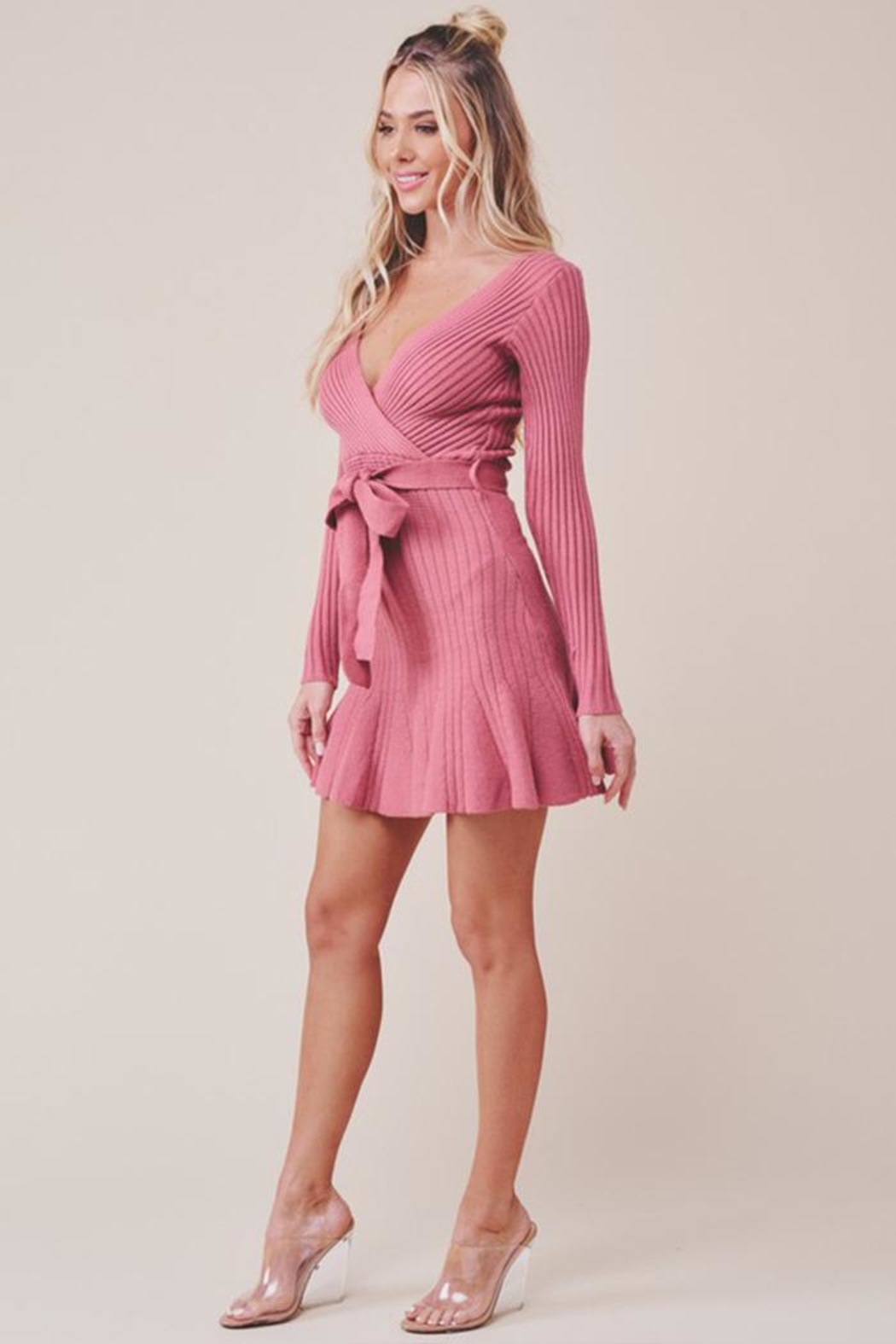 one & only Surplice Mini Dress - Front Full Image