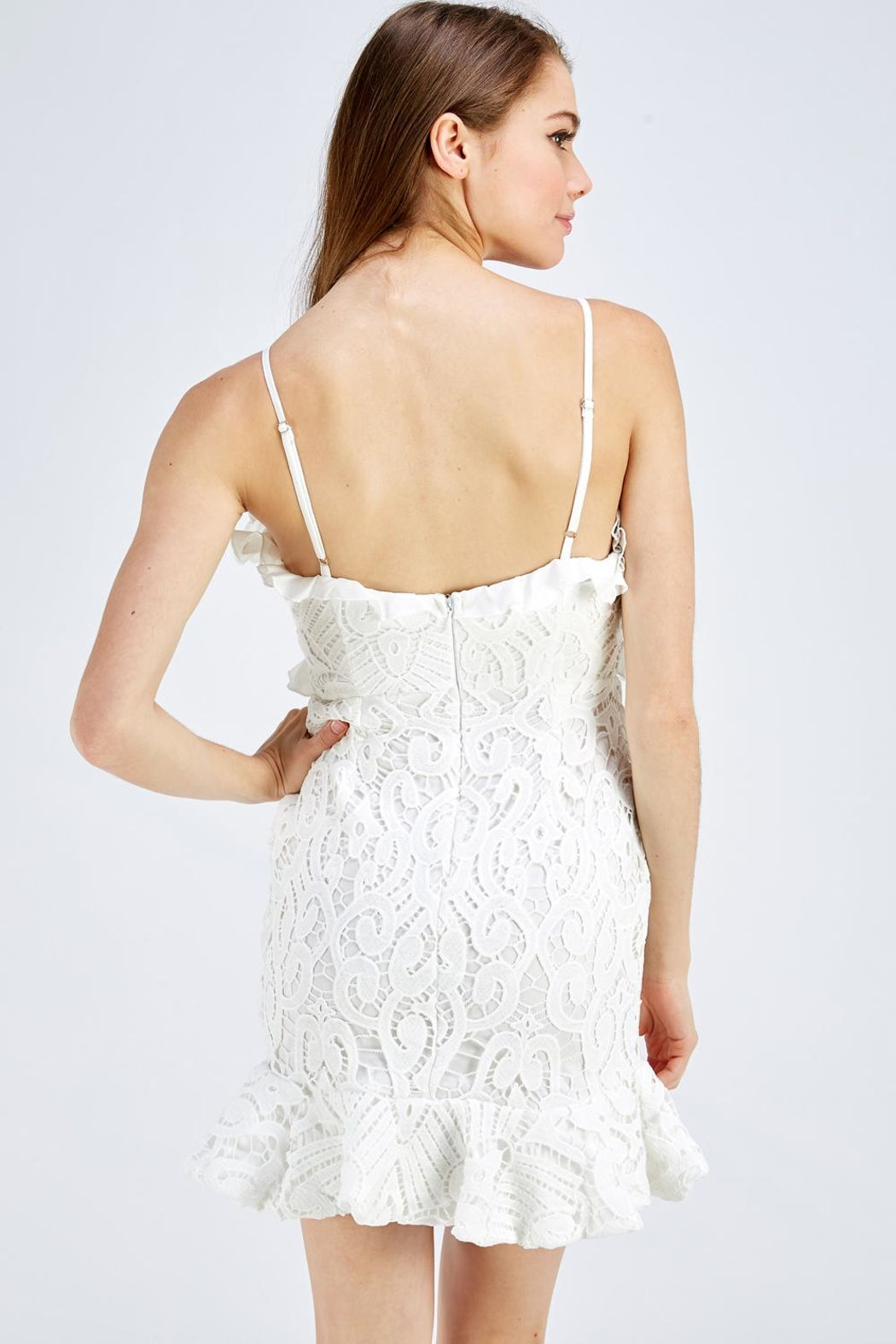 one & only White Lace Dress - Back Cropped Image