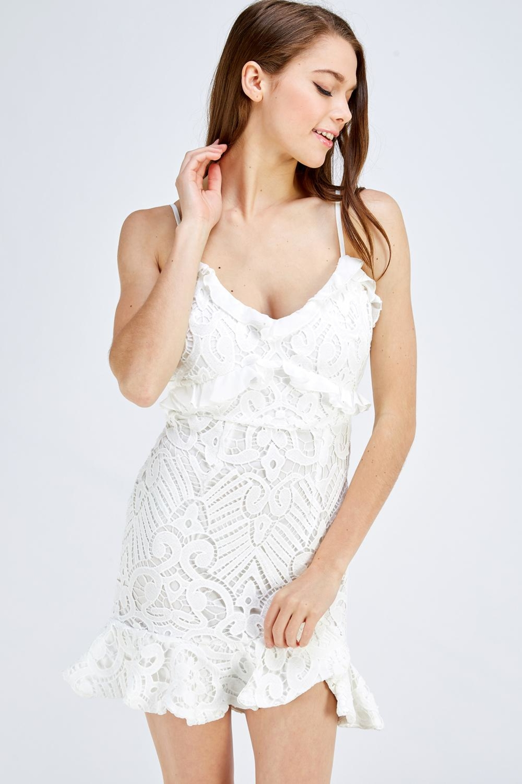 one & only White Lace Dress - Main Image