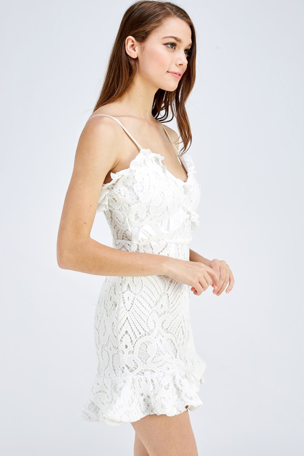 one & only White Lace Dress - Front Full Image