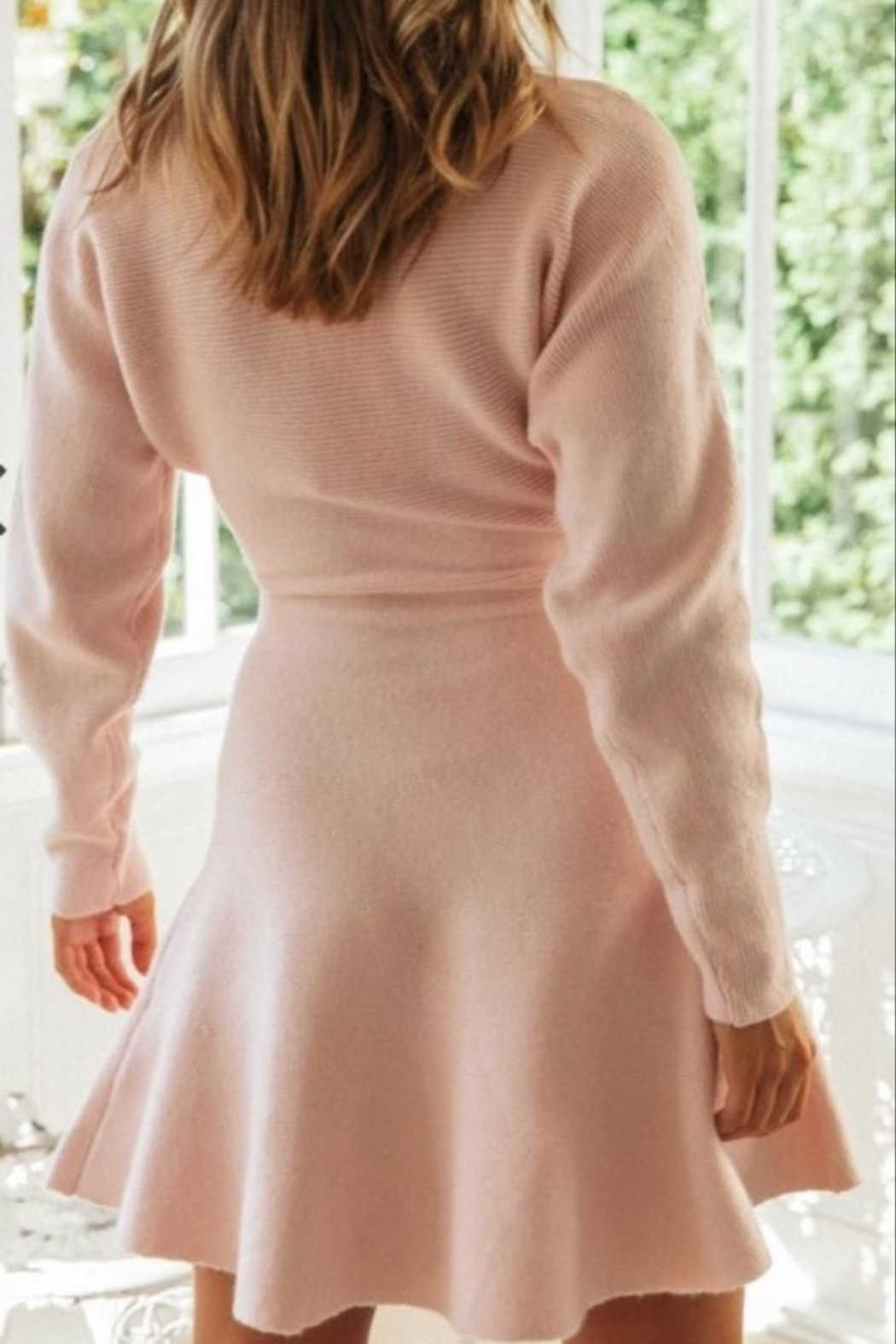 ONE AND ONLY COLLECTIVE Ansel Sweater Dress - Back Cropped Image