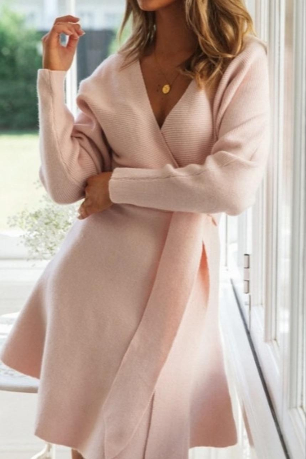 ONE AND ONLY COLLECTIVE Ansel Sweater Dress - Front Full Image