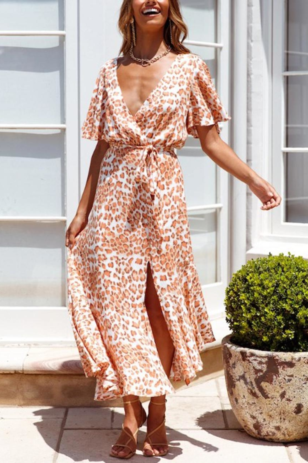 ONE AND ONLY COLLECTIVE Leopard-Print Maxi Dress - Main Image
