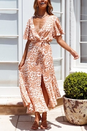 ONE AND ONLY COLLECTIVE Leopard-Print Maxi Dress - Front cropped