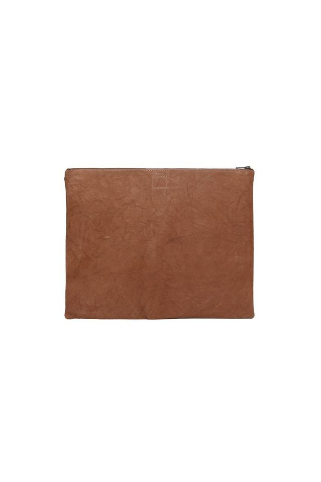 One Fated Knight Camel Oversized Pouch - Front Full Image