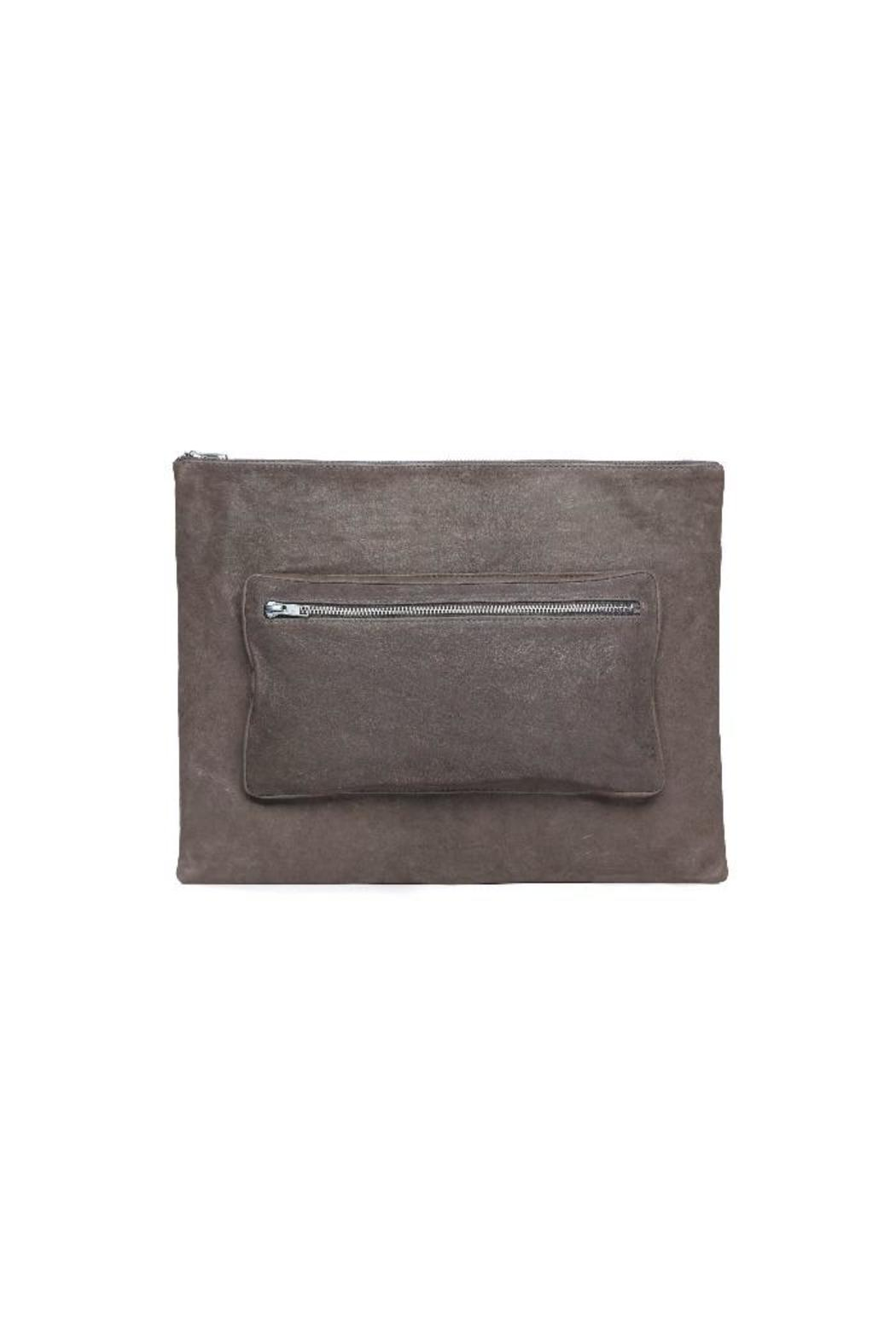 One Fated Knight Grey Oversized Pouch - Main Image