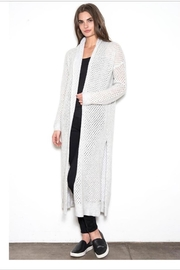 One Grey Day Duster Crocheted Sweater - Product Mini Image