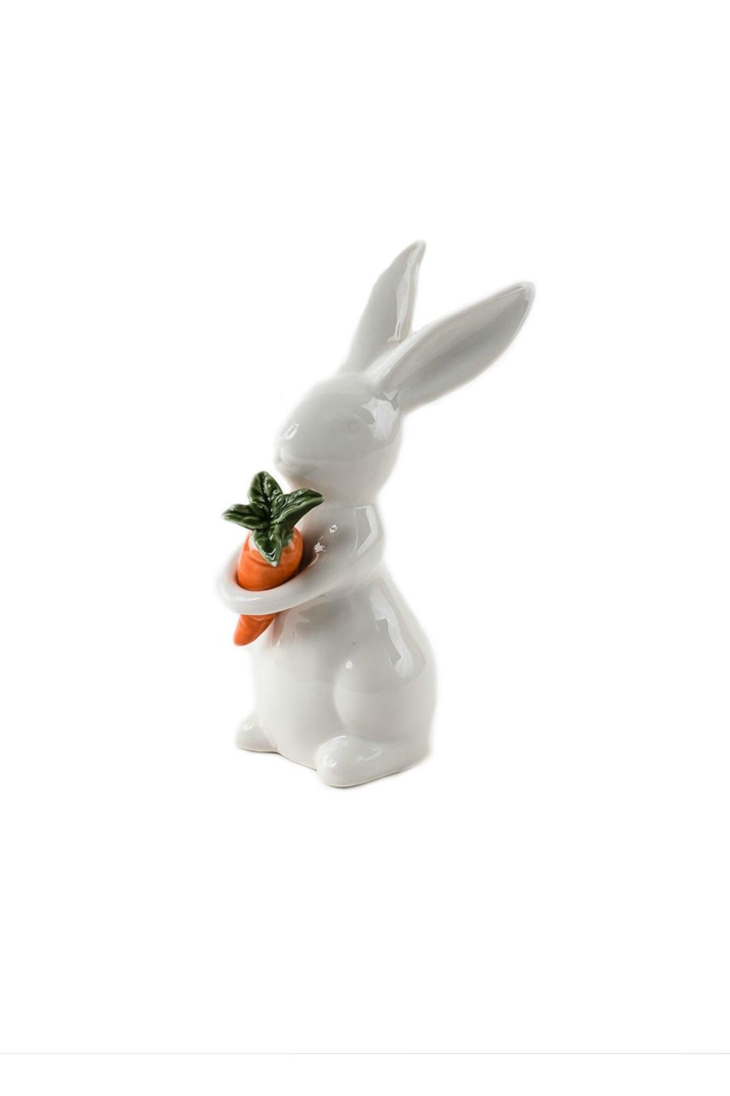 One Hundred 80 Degrees Bunny W/carrot Figure - Main Image