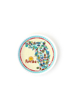 One Hundred 80 Degrees Florida Picnic Plate - Product List Image