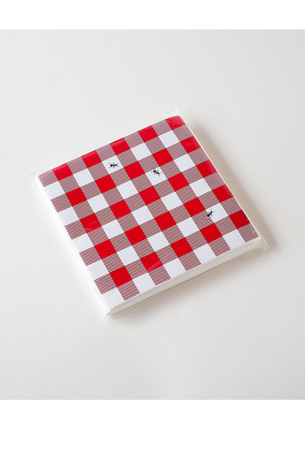 One Hundred 80 Degrees Gingham Ant Napkins - Front Cropped Image