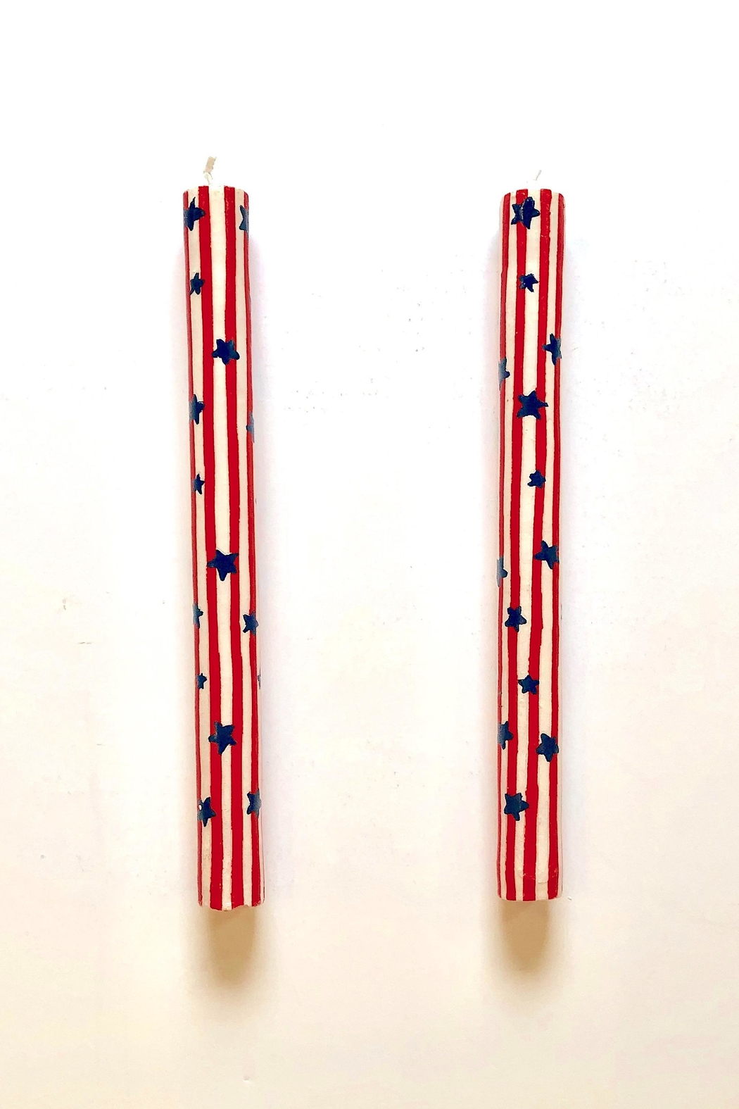 One Hundred 80 Degrees Patriotic Taper Candles - Main Image