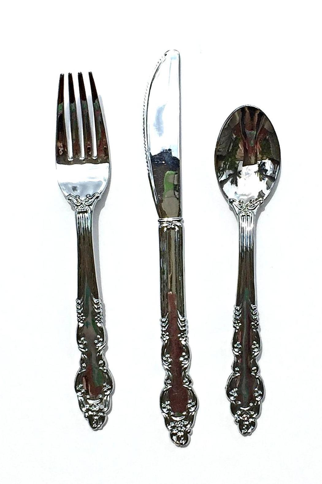 One Hundred 80 Degrees Picnic Flatware Set - Front Full Image