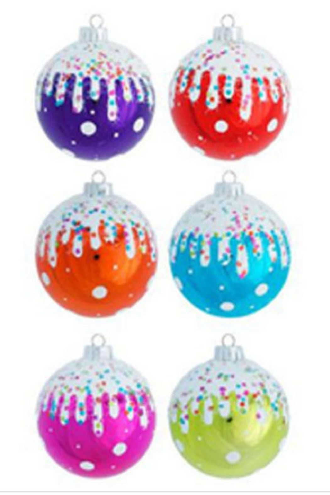 One Hundred 80 Degrees Snow Capped Frosted Ornaments - Main Image