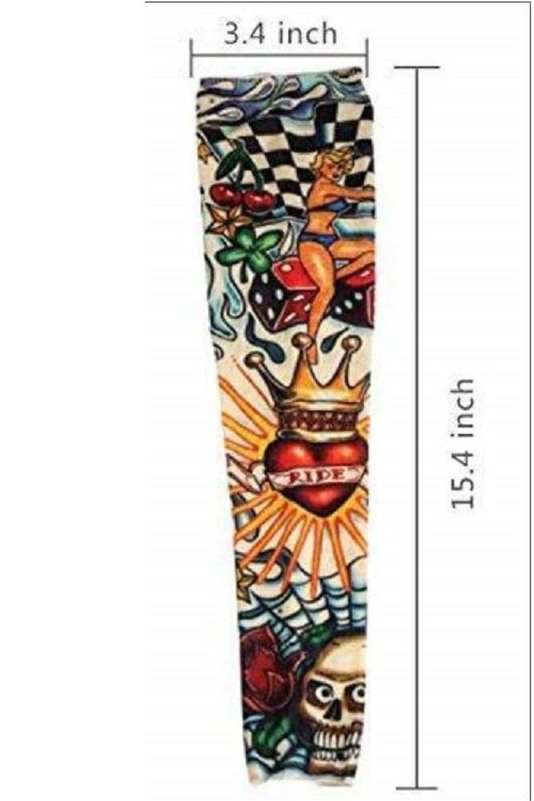 One Hundred 80 Degrees Tatoo Sleeves - Front Cropped Image