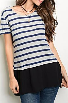 One Story Blue Strip Tee - Product List Image