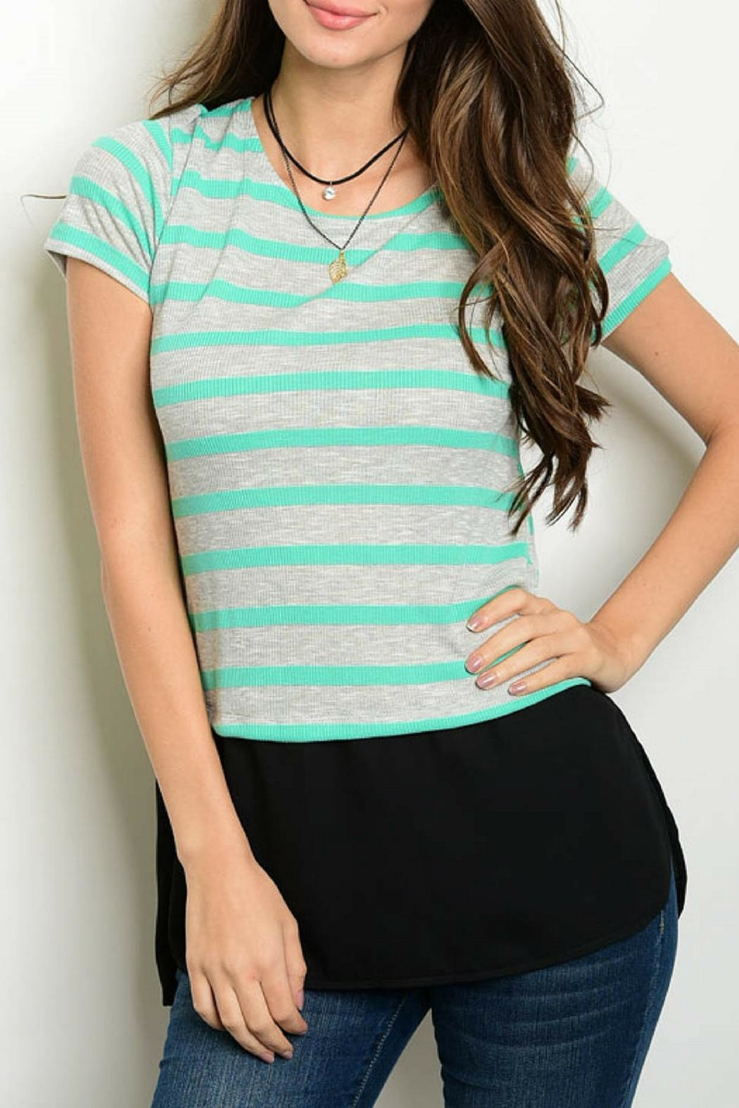 One Story Mint Tunic Top - Main Image