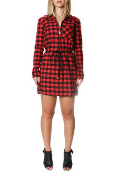One Story Red Flannel Dress - Product List Image