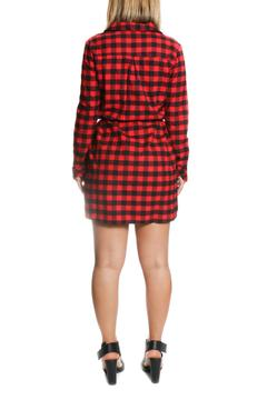 One Story Red Flannel Dress - Alternate List Image
