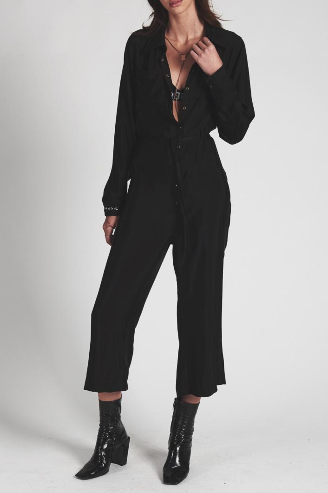 One Teaspoon Bad Valentine Jumpsuit - Front Cropped Image