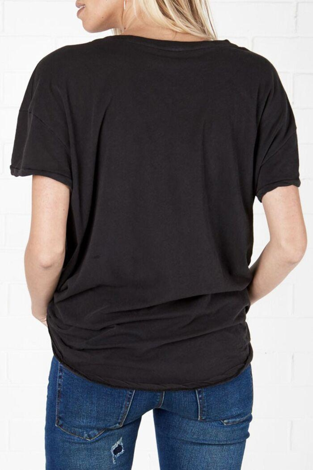 One Teaspoon Black Sailor Tee - Side Cropped Image
