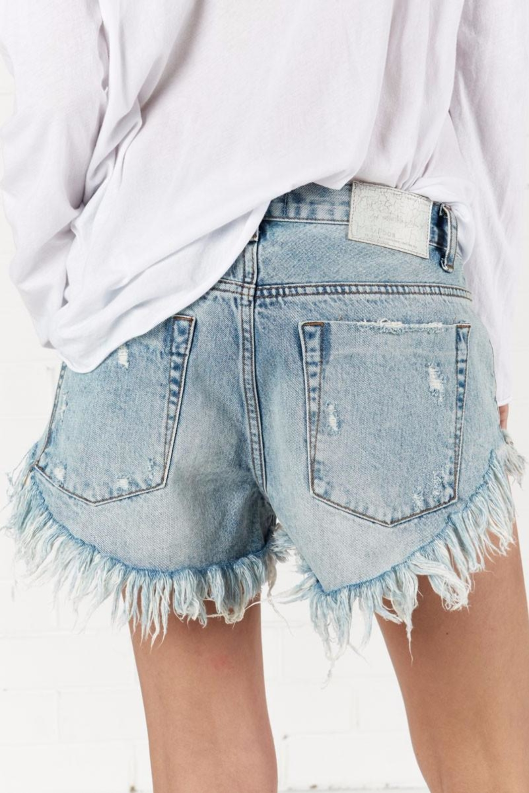 One Teaspoon Blue Hart Brandos Shorts - Front Full Image