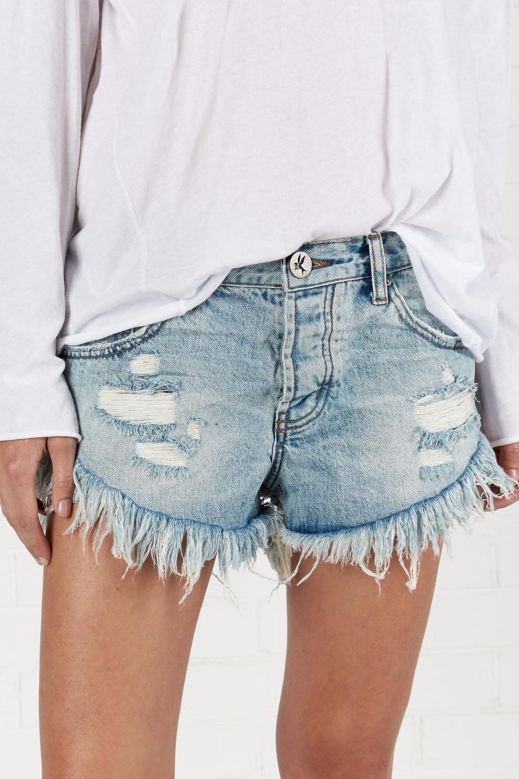 One Teaspoon Blue Hart Brandos Shorts - Main Image