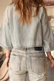 One Teaspoon Crop Denim Shirt - Product Mini Image