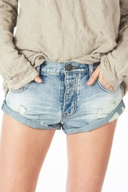One Teaspoon Distressed Bandit Shorts - Front cropped