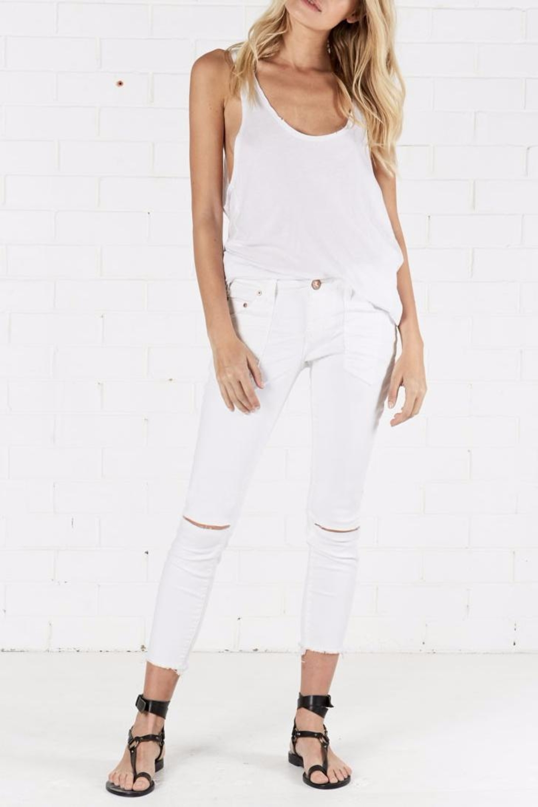 One Teaspoon Free Birds Li Jeans - Back Cropped Image