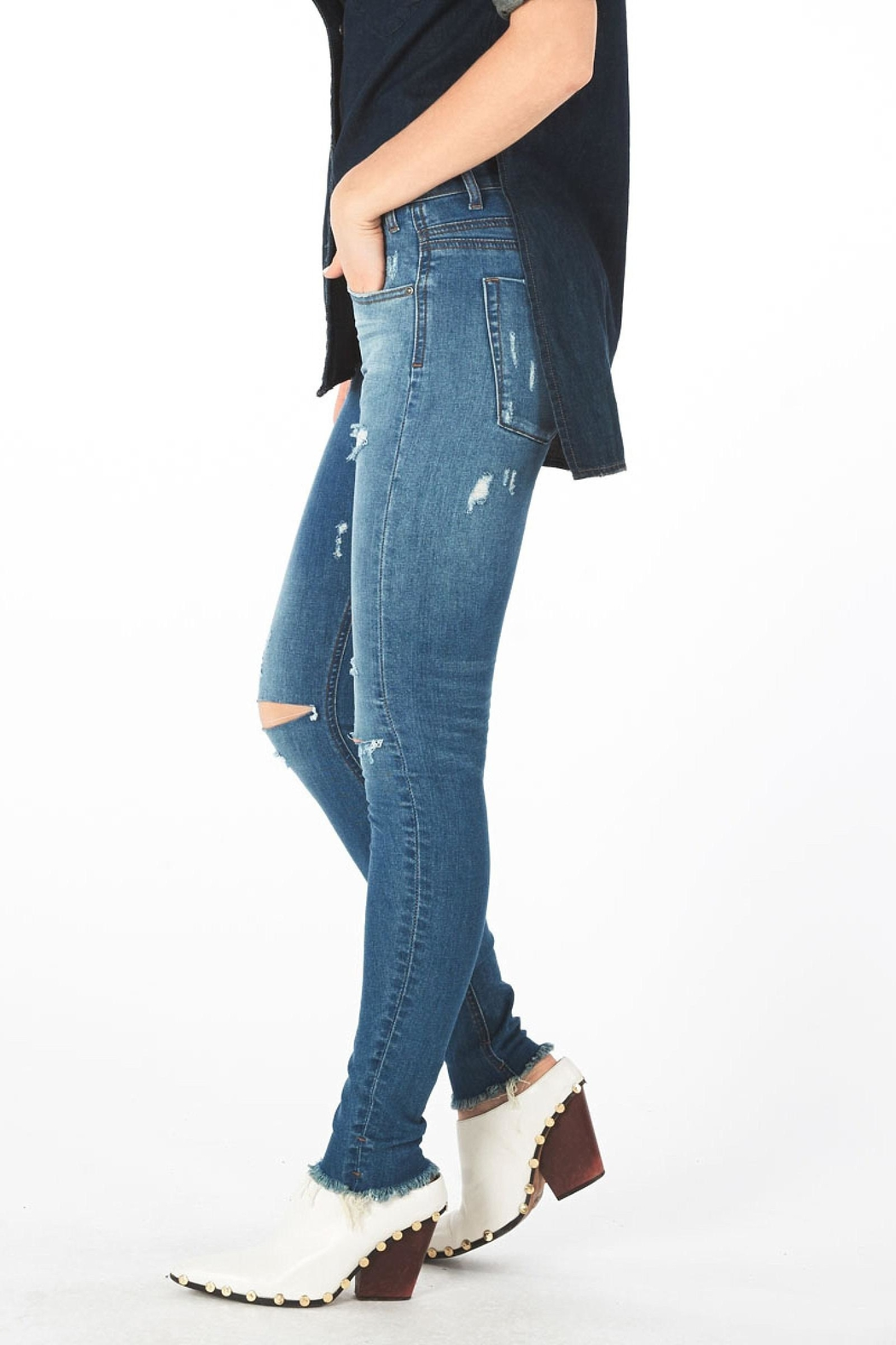 One Teaspoon Hoodlums Skinny Jean - Side Cropped Image