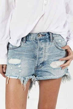 One Teaspoon Outlaw Jean Shorts - Product List Image
