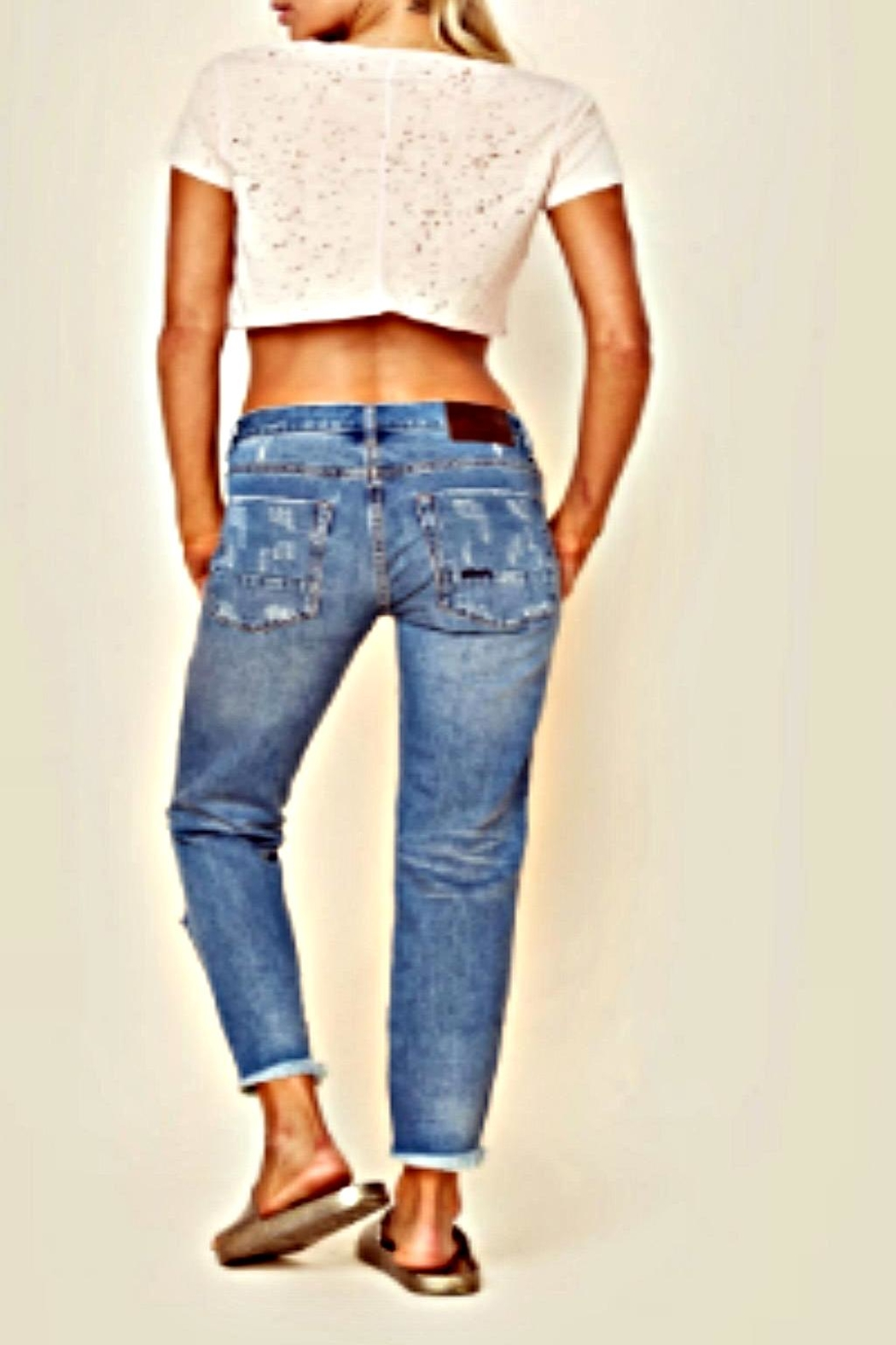 One Teaspoon Pacifica Freebird Jeans - Back Cropped Image