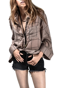 One Teaspoon Brown Striped Shirt - Product List Image
