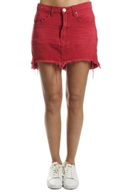 One Teaspoon Red Vanguard Skirt - Front cropped
